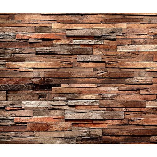 decomonkey Fototapete Holz 400x280 cm Design Tapete Fototapeten Vlies Tapeten Vliestapete Wandtapete moderne Wand Schlafzimmer Wohnzimmer Holzwand Brett