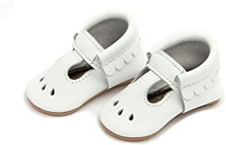 Freshly Picked - Soft Sole Leather Mary Jane Moccasins - Baby Girl Shoes - Infant Sizes 1-5 - Multiple Colors