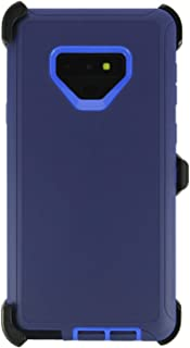 WallSkiN Turtle Series Cases for Samsung Galaxy Note 9 (Only) Tough Protection with Kickstand & Holster - Midnight (Navy Blue/Blue)