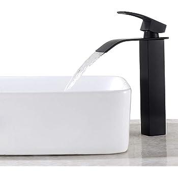 chrome Robinet Mitigeur Cuisine en Foeme L El/égante Design R/étro Robinet avec Bec Haut lavabo Bain Robinet Mitigeur pour Lavabo Levier