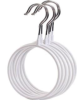 SCTD Belt/Scarf Hangers for Closet - 4 PCS Nonslip Steel Tie Rings Holder Organizer for Neckties, Shawls Scarves, Pashmina...