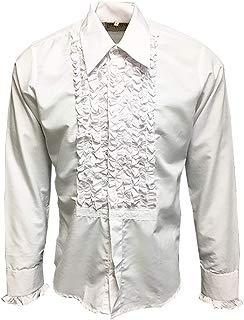 ZenRetro Mens Ruffle Ruche Frill Dinner Tuxedo Shirt