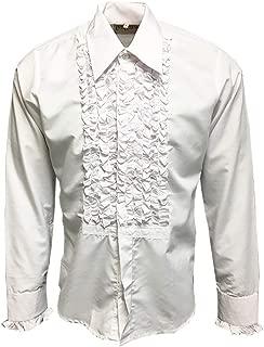 white tuxedo with purple shirt