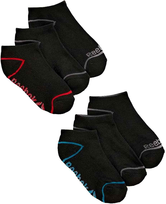 Reebok Boys Socks, 6 Pack Lowcut Socks Sizes S-L