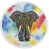 indio Mandala Elefante Toalla de playa grande redondo microfibra toalla de playa playa manta Toalla Mantel de picnic pared colgantes Yoga Alfombras 150cm 6
