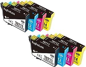 PayForLess T0715 Cartuchos de Tinta para Epson T0711 T0712 T0713 T0714 Compatible con Epson Stylus SX215 SX218 SX115 SX205 SX405 SX515W DX4000 DX4400 DX7400 DX8400 (6 Negro,3 Cian,3 Magenta,3Amarillo)