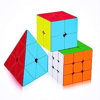 D ETERNAL Rubiks Cube 2X2 3x3 and Pyraminx Pyramid Triangle Rubix Cube High Speed Stickerless Magic Rubic Brainstorming Pu...