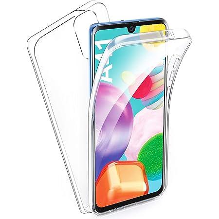 AROYI Coque Samsung Galaxy A41, Samsung Galaxy A41 Transparent Housse Silicone TPU Gel et PC Rigide 360 Degres Protection Anti Choc Full Body Etui ...