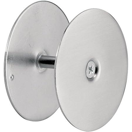 "Defender Security 10446 Door Hole Cover Plate – Maintain Entry Door Security by Covering Unused Hardware Holes, 2-5/8"" Diameter, Satin Nickel"