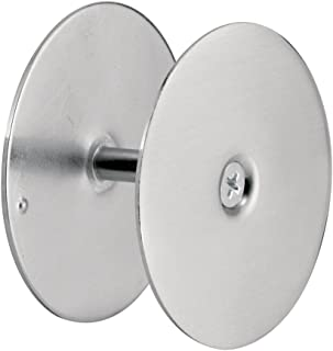 "Defender Security 10446 Door Hole Cover Plate – Maintain Entry Door Security by Covering Unused Hardware Holes, 2-5/8"" Diameter, Satin Nickel"