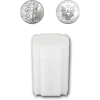 Size Coin Storage Tube Holders Large Dollar Coinsafe Brand Square White Plastic 10