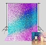 Art Studio Photo Background Colorful Glitter Sequin Photography Backdrop for Wedding Party Theme Decor Studio Props Banner 5x7FT Vinyl