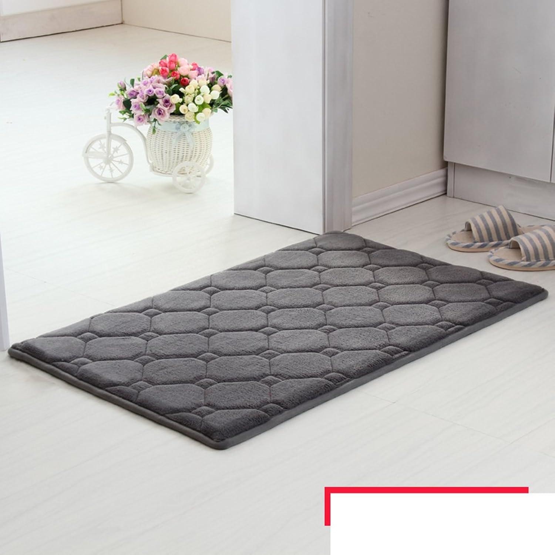 Memory Cotton mats Door mats Bathroom Living Room Kitchen Water Absorption Non-Slip mat-B 100x120cm(39x47inch)
