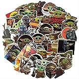 NOBRAND 50 Piezas De Dibujos Animados Star Wars Mandalorian Baby Yoda Toy Sticker Skateboard Maleta...
