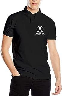 Fashion Design Acura Motors Logo Polo Shirt for Mens Cotton Short Sleeve Black