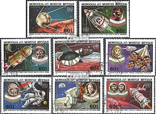 Prophila Collection Mongolei 1513-1520 (kompl.Ausg.) 1982 UNISPACE Wien 1982 (Briefmarken für Sammler) Weltraum