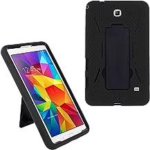 Galaxy Tab 4 7.0 2014 T230 Case, KIQ Shockproof Full-Body Military Drop Proof Heavy Duty Cover Kickstand Screen Protector for Samsung Galaxy Tab 4 7 SM-T230 (Hybrid Black-in/Black)