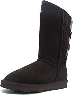 K.Signature Womens Amigo Australian Sheepskin Winter Boots