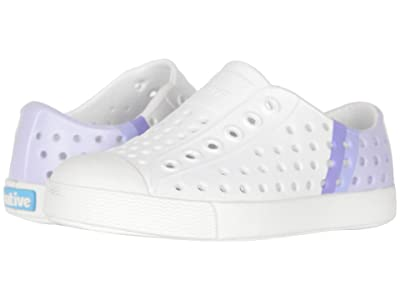 Native Kids Shoes Jefferson Block (Toddler/Little Kid) (Shell White/Shell White/Powder Gradient Block) Girls Shoes