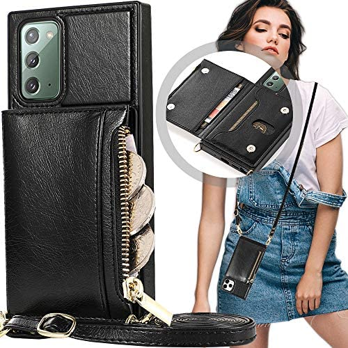 Crossbody Wallet Case Samsung Note 20 Note 20 Case with Card Holder Auker Protective Leather product image