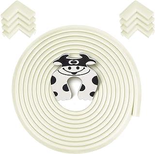 Rabofly Baby Proofing Edge & Corner Guards, [19.68ft Edge + 8 Corners] Furniture Bumper Cushion Table Edge Corner Protecto...