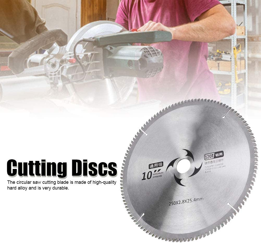 Corte de Metal Aluminio Circular Discos Corte Circular Cortador de Madera Universal Discos Aleaci/ón Dura Herramienta 100T Hoja de Sierra