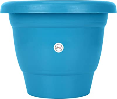 Gate Garden Gamla/Planter/Pots Perfect for Balcony Garden All New Blue Colour 18cm Sturdy Plastic Planter Bottom Plate for Planters (Set of 2)(Pack of 1)