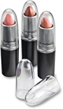 Clear Acrylic Lipstick Caps - Replaces Original Individual MAC Lipstick Caps - See Your Favorite Lipstick Color Easily (24 Pack)