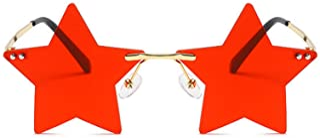 Rimless Star shape Sunglasses Transparent Sun Glasses for women/men Party glasses Super Cute...