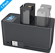 Charging Station and 1- Pack 6400 mAh Rechargeable Battery for Ring Spotlight Cam Battery, Ring Video Doorbell 2 & Ring St...