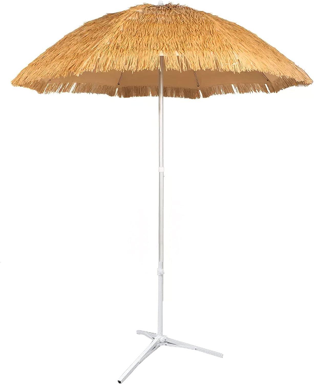 Popular overseas SAMUR Sun Umbrella Sunshade Hawaiian Tilting Super beauty product restock quality top! Th Folding Parasol