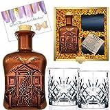 100% Karibik Rarität Spiced Rum Spirituose aus Barbados | Geschenk mit 2 geschliffenen Gläsern | Geschenk für Männer & Kenner