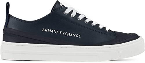 Armani exchange sneakers, scarpe da ginnastica uomo recycled leather XUX060XV24700285