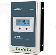 EPEVER Upgraded 20A MPPT Charge Controller, with LCD Display 100V Max Input 12V/24V Auto Switch Charging-Negative Grounded