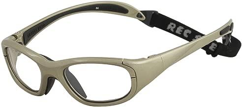 Rec Specs MX-20 Protective Eyewear Metallic Light Brown Frame,Clear Lens, Unisex
