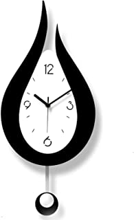 Frameless Clock, Large 3D DIY Wall Clocks Silent Non-Ticking Swing Water Drop Decoration, for Living Room, Bedroom, Office