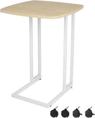 Moncot サイドテーブル ナイトテーブル 木製 ソファ ホーム オフェス キャスター付 移動式 ナチュラル ET220A-OAK