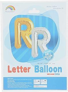 بالونة فويل شكل حرف R من ام كولور بالون - ذهبي