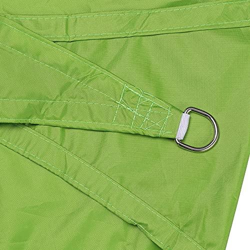 QAZW Triangle Sun Shade Sail Canopy Mesh Fabric Bloque UV - Comercial de Servicio Pesado - 185 gsm con Kit de Fijación Gratuito,Green-19.6'x19.6'x19.6'