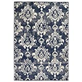 ROMELAREU Teppich Modern Barock-Ornamente Vintage 80 x 150 cm Beige/Blau Heim & Garten Dekoration Teppiche