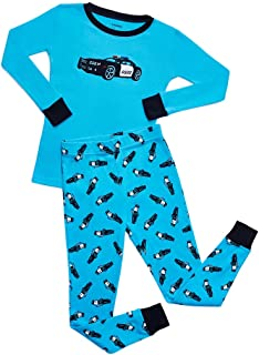 Kids & Toddler Pajamas Garbage Truck Train Boys 2 Piece Pjs Set 100% Cotton (Size 12 Months-14 Years)