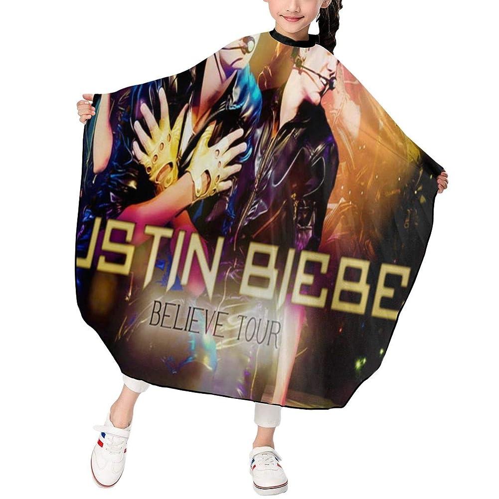 裕福な順応性のある欲求不満最新の人気ヘアカットエプロン 子供用ヘアカットエプロン120×100cm アイドルミュージックJustin Bieberジャスティンビーバー 柔らかく、軽量で、繊細なポリエステル生地、肌にやさしい、ドライ