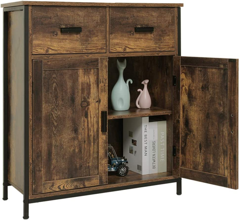 USIKEY Industrial Floor Storage Cabinet with Doors 2 Drawers Ultra-Cheap Deals and Arlington Mall