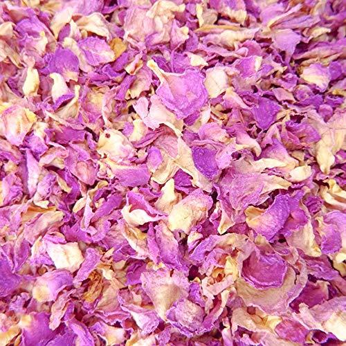 Natürliches Blüten-Konfetti, 1 Liter, biologisch abbaubar, viele Farben, Typen und Mischungen erhältlich Vintage Rose Rose