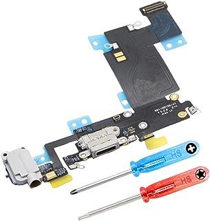 MMOBIEL Repuesto Conector Dock de Carga Compatible con iPhone 6S Plus (Negro/Space Grey), Incl. 2 X Destornilladores