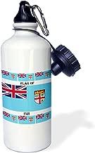 3dRose wb_211308_1 Flag Of Fiji Sports Water Bottle 21 oz Multicolor