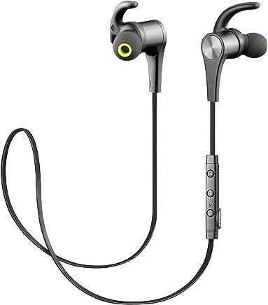 SoundPEATS Auriculares Bluetooth 4.1 Magnéticos Cascos Deportivos Inalámbricos con Mic, Resistente al Agua IPX6, Duración 10 Horas para iOS Android PC