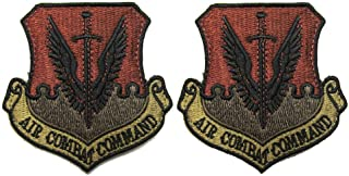 USAF Air Combat Command OCP Spice Brown Patch with Hook Fastener- 2 Pack
