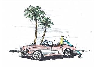 ウォールステッカー 飾り 30×30cm シール式 装飾 おしゃれ 壁紙 はがせる 剥がせる カッティングシート wall sticker 雑貨 ガラス 窓 DIY プチリフォーム パーティー イベント 賃貸 wss-014340-ds ハイビスカス ヤシの木