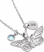 Personalized Pet Memorial Necklace - I Feel You Smiling from Heaven - Cremation Jewelry Butterfly